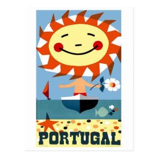 Cartão Postal Poster de viagens 1959 do beira-mar de Portugal do