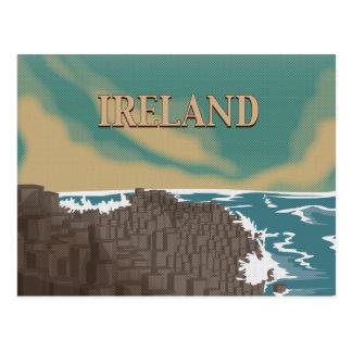 Cartão Postal Poster de viagens da calçada de Ireland Giants