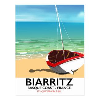 Cartão Postal Poster de viagens da praia de Biarritz France