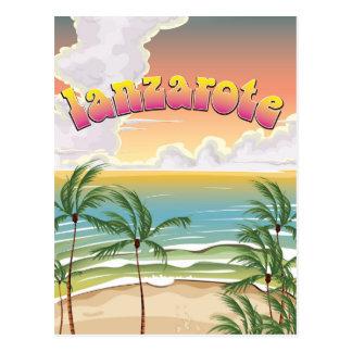 Cartão Postal Poster de viagens da praia de Lanzarote