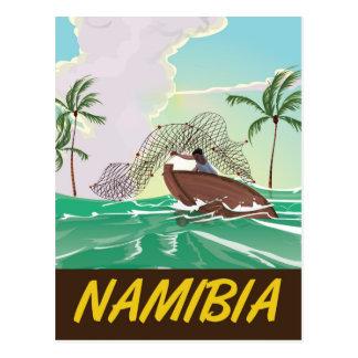 Cartão Postal Poster de viagens da praia de Namíbia