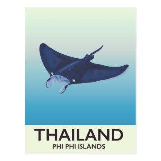Cartão Postal Poster de viagens das ilhas da phi da phi de