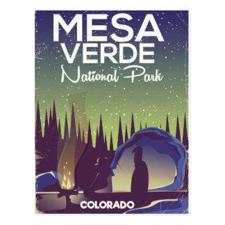 Cartão Postal Poster de viagens de acampamento do parque