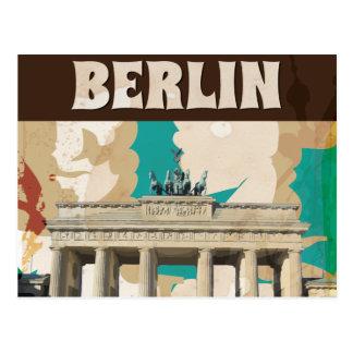 Cartão Postal Poster de viagens de Berlim do vintage