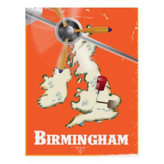 Cartão Postal Poster de viagens de Birmingham do vintage