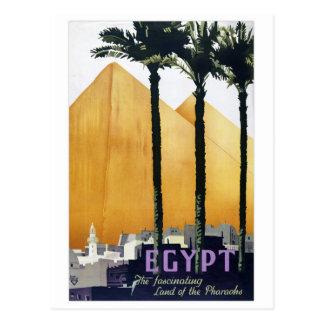 Cartão Postal Poster de viagens de Egipto Vvintage restaurado