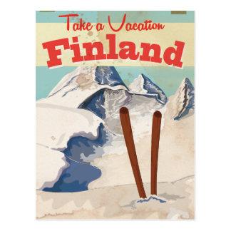 Cartão Postal Poster de viagens de Finlandia do vintage