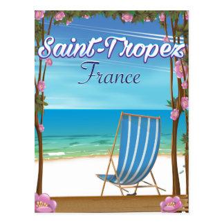 Cartão Postal Poster de viagens de France do Santo-Tropez