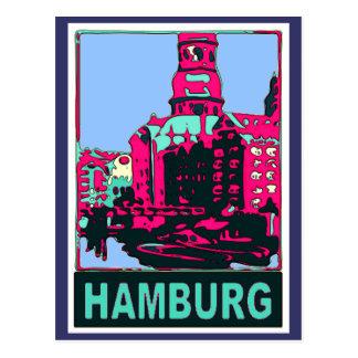 Cartão Postal Poster de viagens de Hamburgo