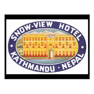 Cartão Postal Poster de viagens de Nepal_Vintage do hotel da