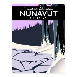Cartão Postal Poster de viagens de Nunavut Canadá