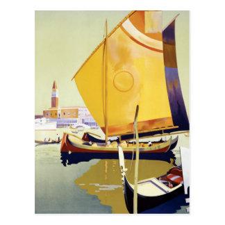 Cartão Postal Poster de viagens de Veneza do vintage