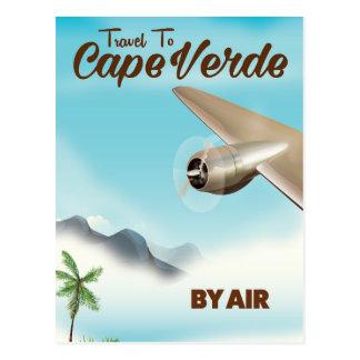 Cartão Postal Poster de viagens do ar de Cabo Verde