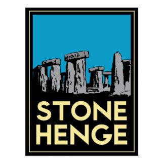 Cartão Postal Poster de viagens do art deco de Stonehenge