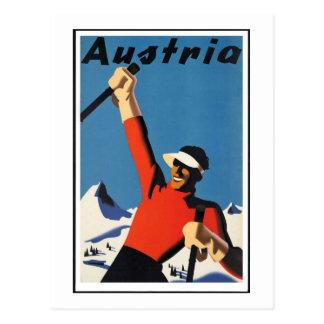 Cartão Postal Poster de viagens do austríaco do vintage