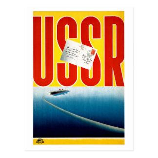 Cartão Postal Poster de viagens do cruzeiro do vintage de URSS