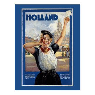 Cartão Postal Poster de viagens do Dutch do vintage