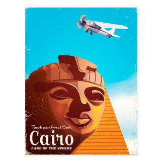 Cartão Postal Poster de viagens do estilo do vintage do Cairo