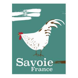 Cartão Postal Poster de viagens do galo novo de Sabóia France