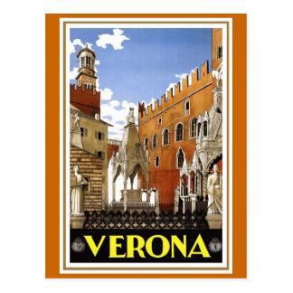 Cartão Postal Poster de viagens do italiano do vintage de