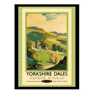 Cartão Postal Poster de viagens dos Dales de Yorkshire