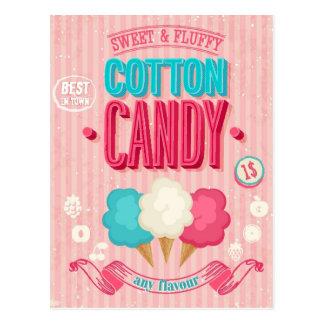 Cartão Postal Poster do algodão doce do vintage