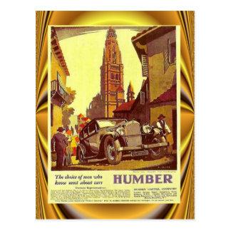 Cartão Postal Poster do carro vintage, Humber, carro britânico