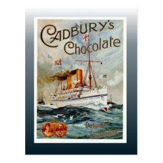 Cartão Postal Poster do chocolate do vintage, o chocolate de