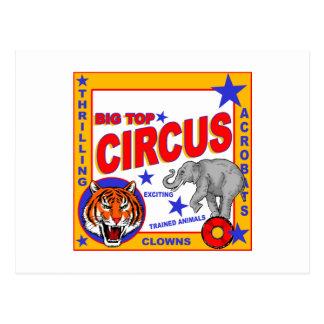 Cartão Postal Poster do circo do vintage