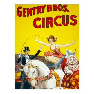 Cartão Postal Poster do circo dos irmãos da pequena aristocracia