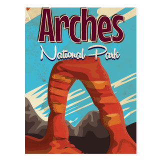 Cartão Postal Poster do feriado do vintage do parque nacional