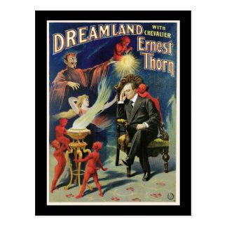 Cartão Postal Poster do mágico do espinho de Ernest do vintage