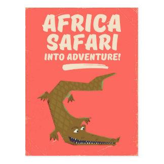 Cartão Postal Poster do safari de África do crocodilo!