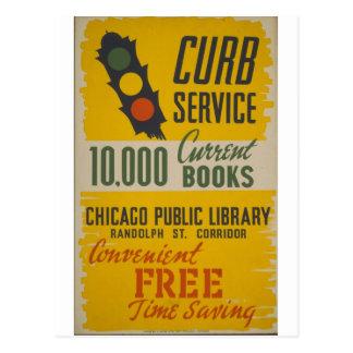 Cartão Postal Poster do serviço do freio da biblioteca pública