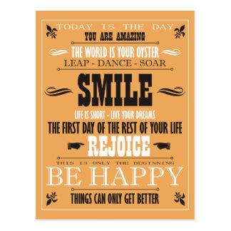 Cartão Postal Poster do sorriso do vintage