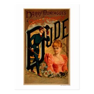 """Cartão Postal Poster do teatro do """"gajo"""" da comédia de Harry"""