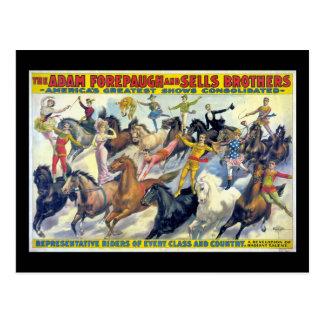 Cartão Postal Poster do teatro do vintage dos cavaleiros de