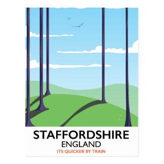 Cartão Postal Poster do trem de Staffordshire Inglaterra