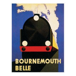 Cartão Postal Poster do trem do Belle de Bornemouth do vintage