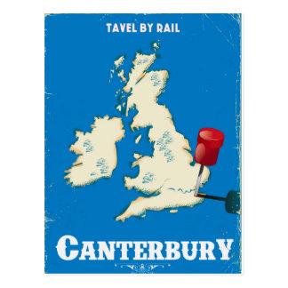 Cartão Postal Poster do trilho do vintage das ilhas britânicas