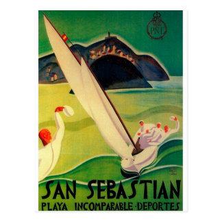 Cartão Postal Poster Donostia San Sebastian das viagens vintage