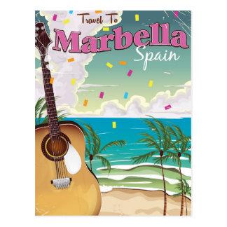 Cartão Postal Poster espanhol do feriado do vintage de Marbella