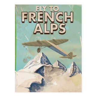 Cartão Postal Poster francês das viagens vintage dos cumes