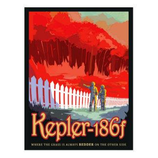 Cartão Postal Poster futuro de Sci Fi do viagem da NASA - Kepler