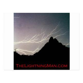 Cartão Postal Poster horizontal do homem do relâmpago