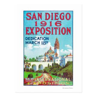 Cartão Postal Poster internacional da exposição de San Diego