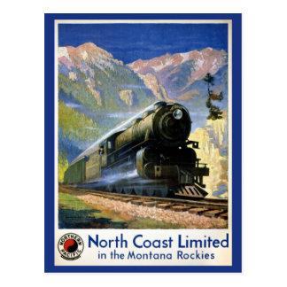Cartão Postal Poster limitado das viagens vintage da costa norte