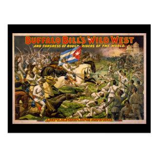 Cartão Postal Poster ocidental selvagem dos vaqueiros de Buffalo