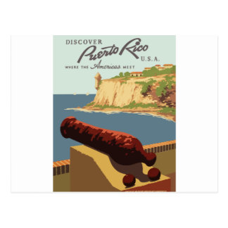 Cartão Postal Poster Puerto Rico das viagens vintage