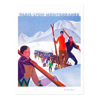 Cartão Postal Poster relativo à promoção Railway de PLM